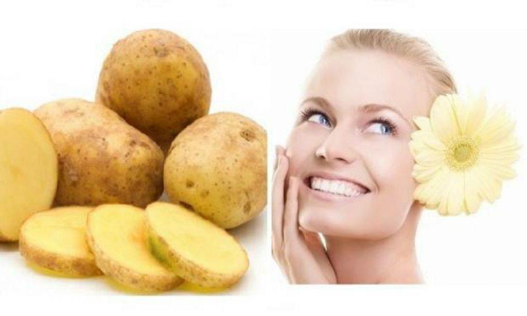use potato for face